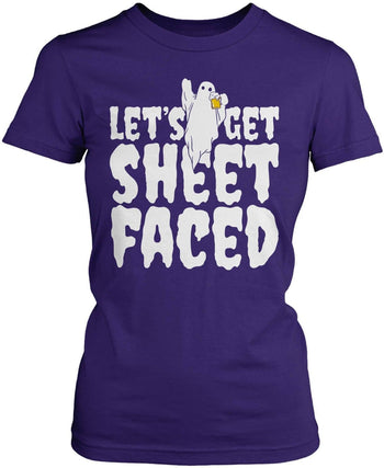 Let's Get Sheet Faced - Women's Fit T-Shirt / Purple / S