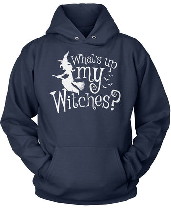 What's Up My Witches? - Pullover Hoodie / Navy / S