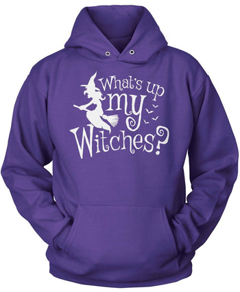 What's Up My Witches? - Pullover Hoodie / Purple / S