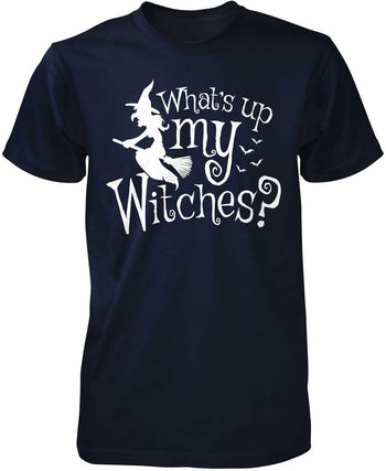 What's Up My Witches? - Premium T-Shirt / Navy / S