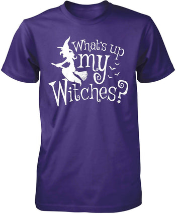 What's Up My Witches? - Premium T-Shirt / Purple / S