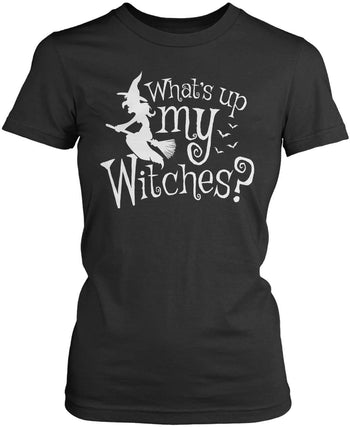 What's Up My Witches? - Women's Fit T-Shirt / Dark Heather / S
