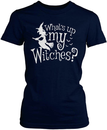 What's Up My Witches? - Women's Fit T-Shirt / Navy / S