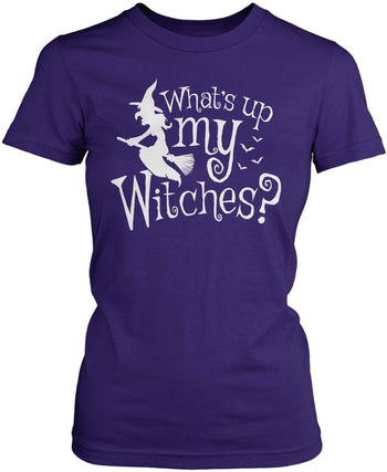 What's Up My Witches? - Women's Fit T-Shirt / Purple / S