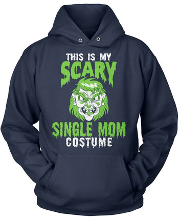 This Is My Scary Single Mom Costume - Pullover Hoodie / Navy / S