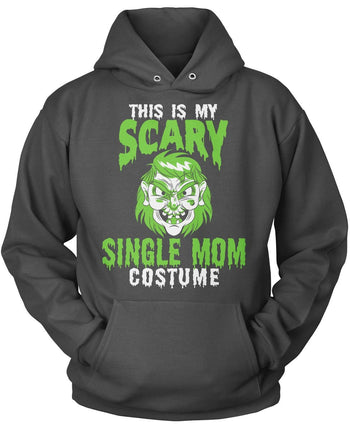 This Is My Scary Single Mom Costume - Pullover Hoodie / Dark Heather / S