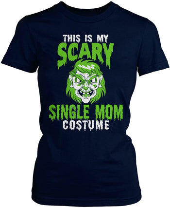 This Is My Scary Single Mom Costume - Women's Fit T-Shirt / Navy / S