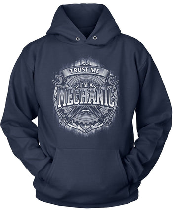 Trust Me I'm a Mechanic - Pullover Hoodie / Navy / S