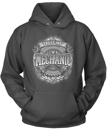 Trust Me I'm a Mechanic - Pullover Hoodie / Dark Heather / S