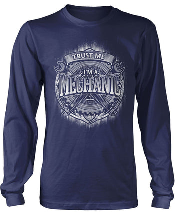 Trust Me I'm a Mechanic - Long Sleeve T-Shirt / Navy / S