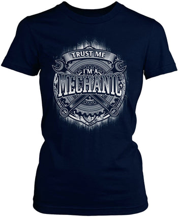 Trust Me I'm a Mechanic - Women's Fit T-Shirt / Navy / S
