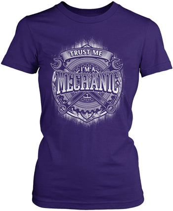 Trust Me I'm a Mechanic - Women's Fit T-Shirt / Purple / S
