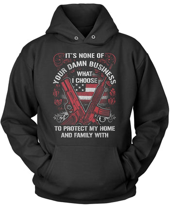 Protect My Family Pullover Hoodie Sweatshirt