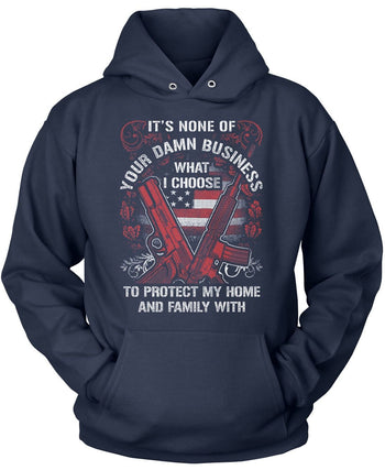 Protect My Family - Pullover Hoodie / Navy / S