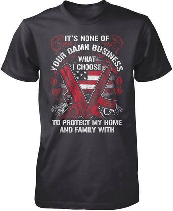 Protect My Family - Premium T-Shirt / Dark Heather / S