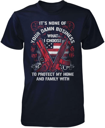Protect My Family - Premium T-Shirt / Navy / S