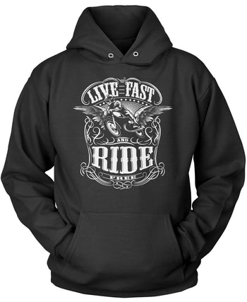 Live Fast and Ride Free Pullover Hoodie Sweatshirt