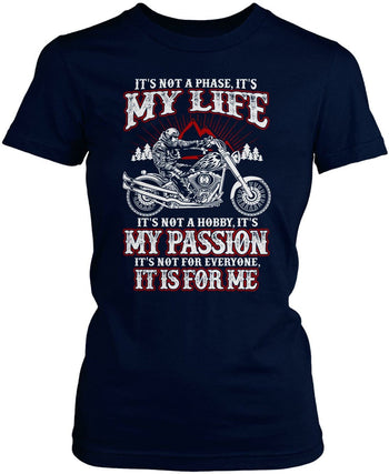 Motorcycles - My Life, My Passion - Women's Fit T-Shirt / Navy / S