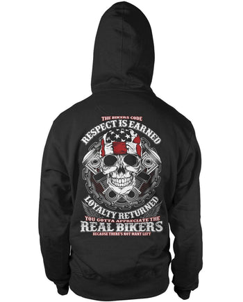 The Bikers Code Pullover Hoodie Sweatshirt