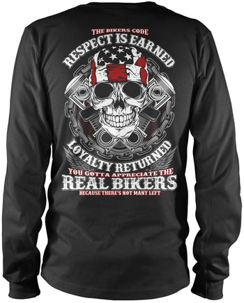 The Bikers Code Long Sleeve T-Shirt