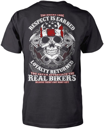 The Bikers Code (Back Design) - Premium T-Shirt / Dark Heather / S