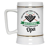 This Opa Loves Billiards - Beer Stein