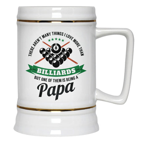 This Papa Loves Billiards - Beer Stein
