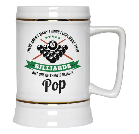 This Pop Loves Billiards - Beer Stein
