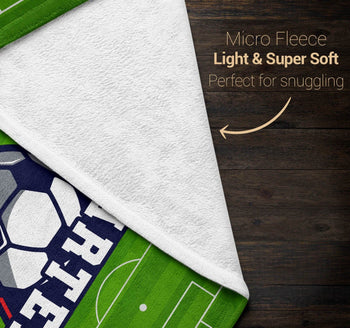 Soccer - Personalized Blanket - [variant_title]