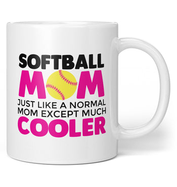 I'm a Softball Mom Except Much Cooler - Coffee Mug / Tea Cup