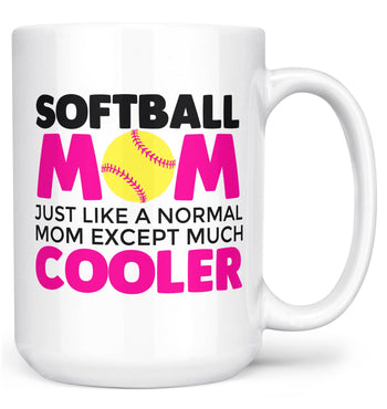 I'm a Softball Mom Except Much Cooler - Mug - White / Large - 15oz