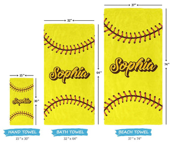 Softball - Personalized Towel - [variant_title]