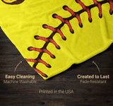 Softball - Personalized Blanket - [variant_title]