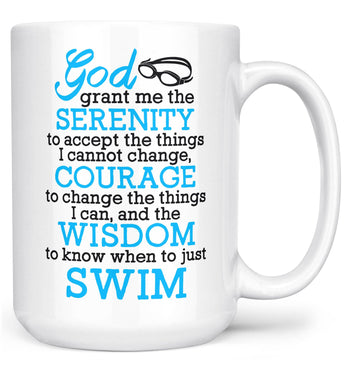 Swimming Serenity - Mug - White / Large - 15oz