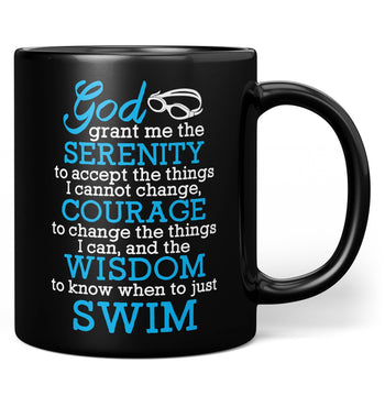Swimming Serenity - Mug - Black / Regular - 11oz