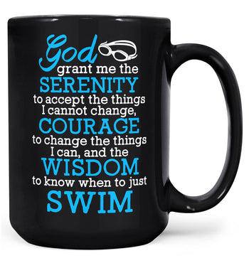 Swimming Serenity - Mug - Black / Large - 15oz