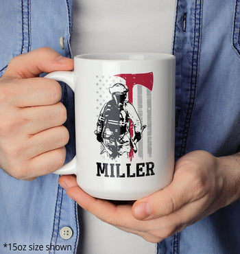 Thin Red Line - Personalized Mug - [variant_title]