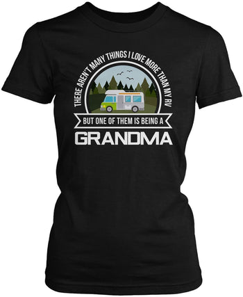This (Nickname) Loves Their RV - Personalized Women's Fit Tshirt