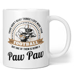This Paw Paw Loves Football - Coffee Mug / Tea Cup