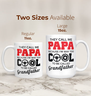 Too Cool to Be Called Grandfather - Personalized Mug - [variant_title]