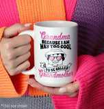 Too Cool to Be Called Grandmother - Personalized Mug - [variant_title]
