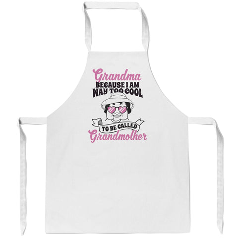 Too Cool to Be Called Grandmother - Personalized Apron
