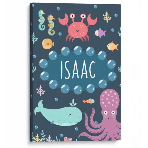 Under the Sea - Personalized Kids Canvas Wall Art