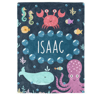 Under the Sea - Personalized Blanket