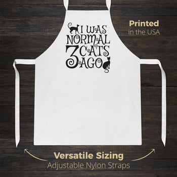 I Was Normal 3 Cats Ago - Apron - [variant_title]