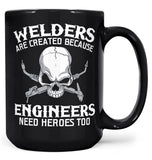 Welders - An Engineers Hero - Mug - Black / Large - 15oz