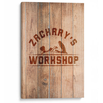 Wood Plane Personalized Woodworking Workshop Canvas