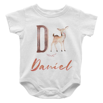 Woodland Deer - Personalized Baby Bodysuit