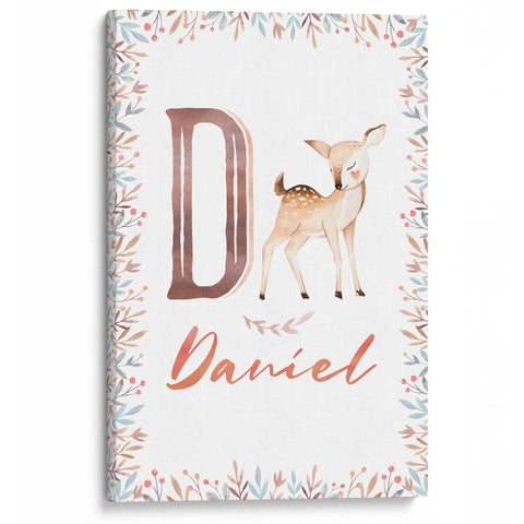 Woodland Deer - Personalized Canvas - Baby or Child Gift Idea