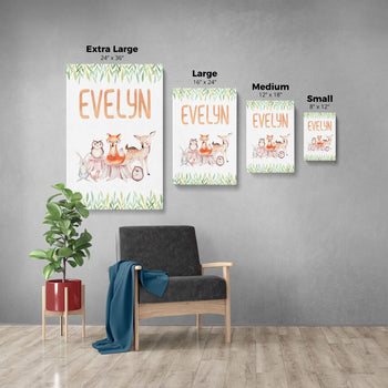 Woodland Friends - Personalized Canvas - [variant_title]